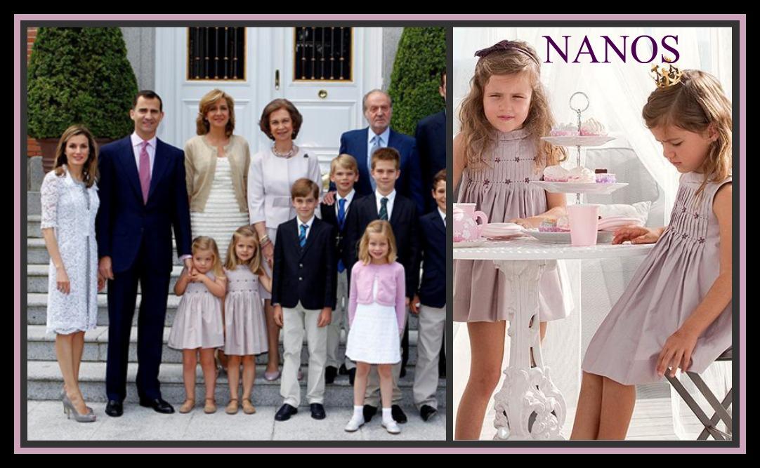 Infantas Leonor y Sofía con vestidos de NANOS