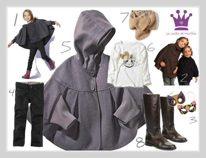 La capa    - estilismos moda infantil- LA CASITA DE MARTINA Blog Moda Infantil