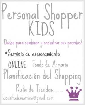 Personal SHOPPER Kids - La casita de Martina....
