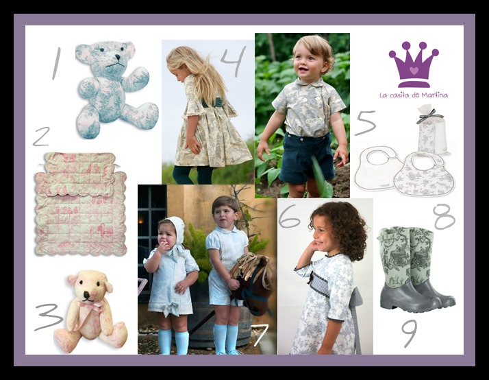 Toile de Jouy - La casita de Martina blog de moda infantil y premamá