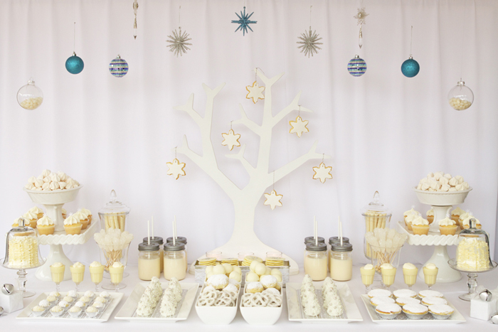 Mesas de chuches - decoración mesas para Navidad - La casita de Martina Blog Moda Infantil y Premamá
