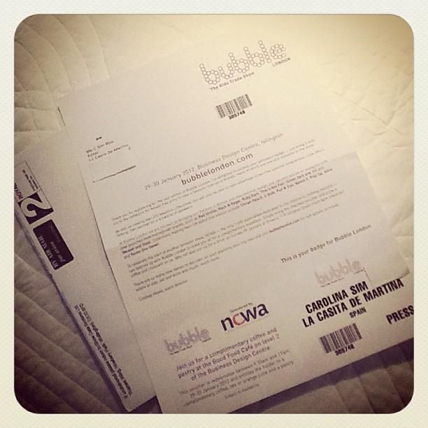 Invitación a Bubble Londres - La casita de Martina Blog de Moda Infantil