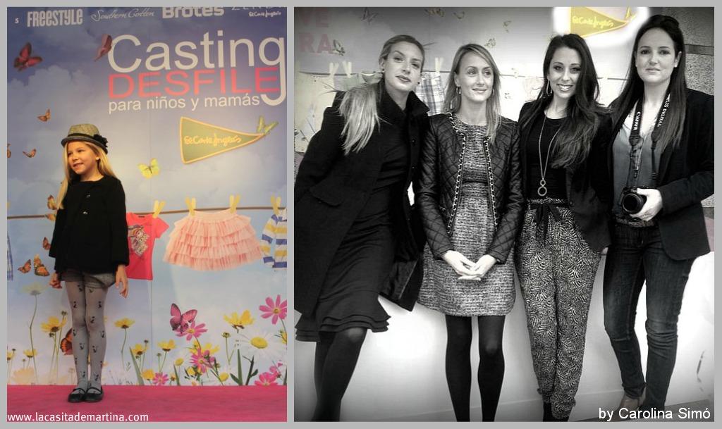 casting desfile nios y mams de el corte ingls la casita de martina blog de moda