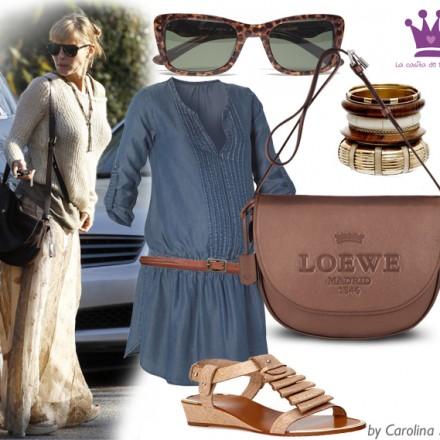 Estilismos premamá, ropa embarazada, vestidos premamá, Loewe, Elsa Pataky - La casita de Martina Blog de Moda Infantil y Premamá