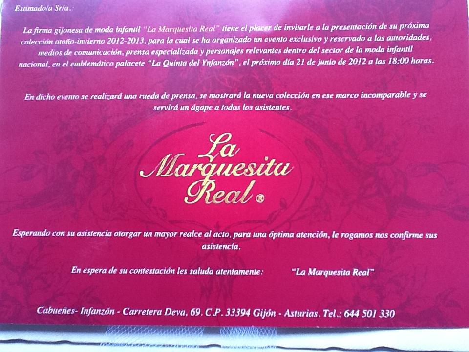 Evento La marquesita real, marca de moda infantil Gijon La casita de Martina