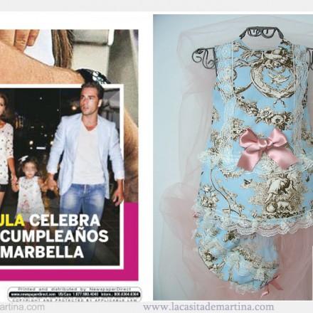 Paula Echevarria con su hija celebra su cumpleaños, la Marquesita Real, Blog de Moda Infantil