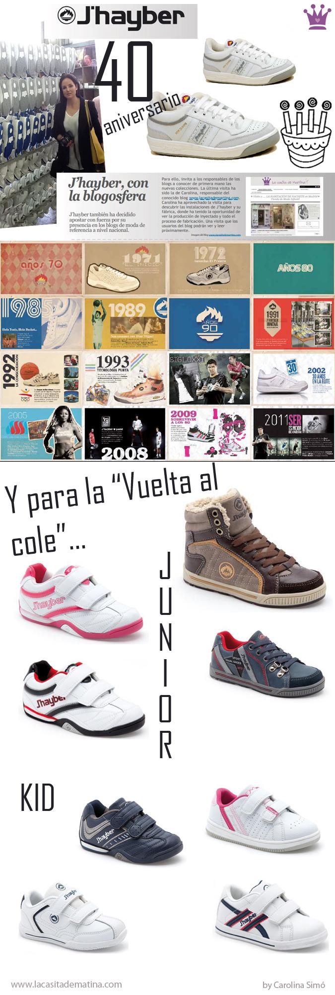 40 aniversario zapatillas Olimpo J'Hayber, Blog de Moda Infantil y Premama
