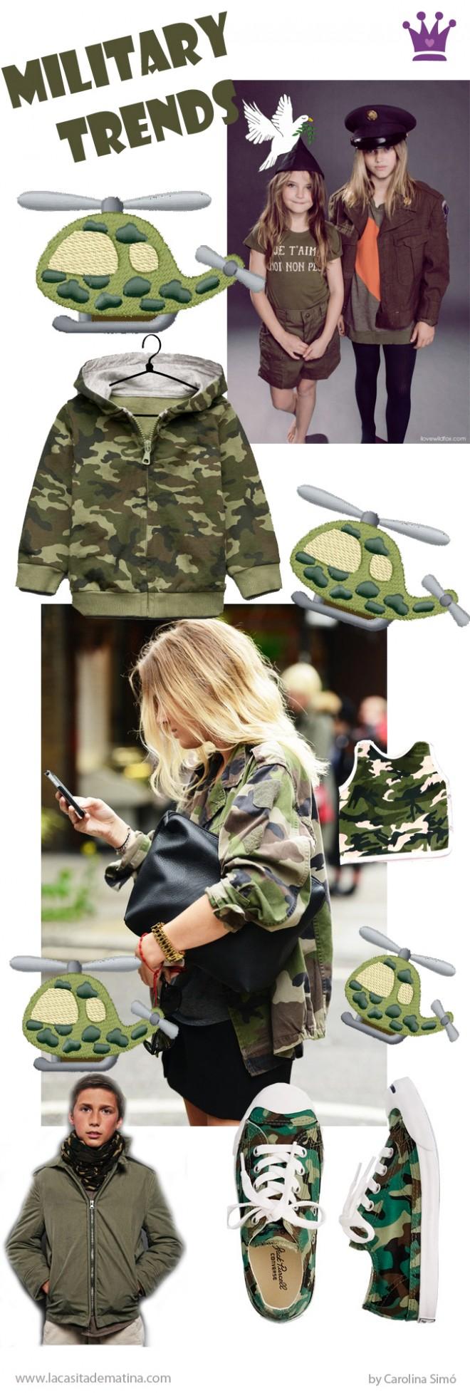 Military trend, Tendencia Militar Moda Infantil, Blog de Moda Infantil, La casita de Martina, Kids trends