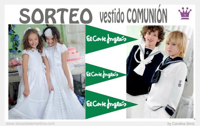 Sorteo, vestido comunión El Corte Inglés, La casita de Martina, Carolina Simó