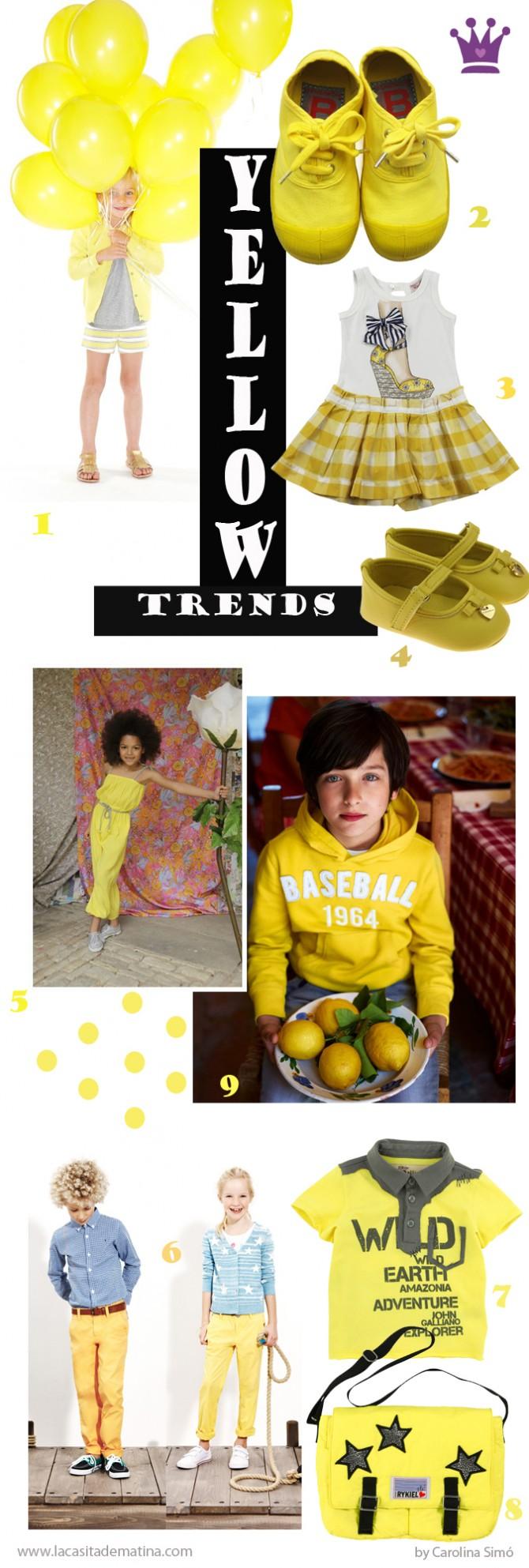 Blog de Moda Infantil, Amarillo tendencia moda infantil, La casita de Martina, Carolina Simó, Benetton, Marc Jacobs,  Bensimon,
