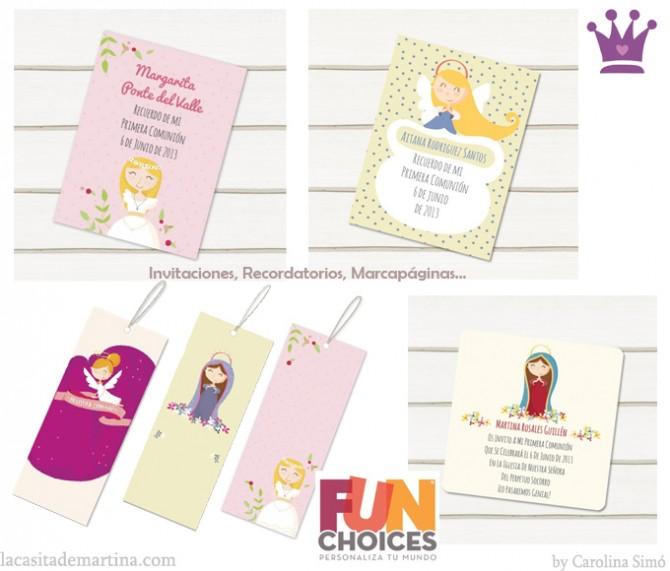 tarjetas primera comunion marcapaginas comuniones la casita de