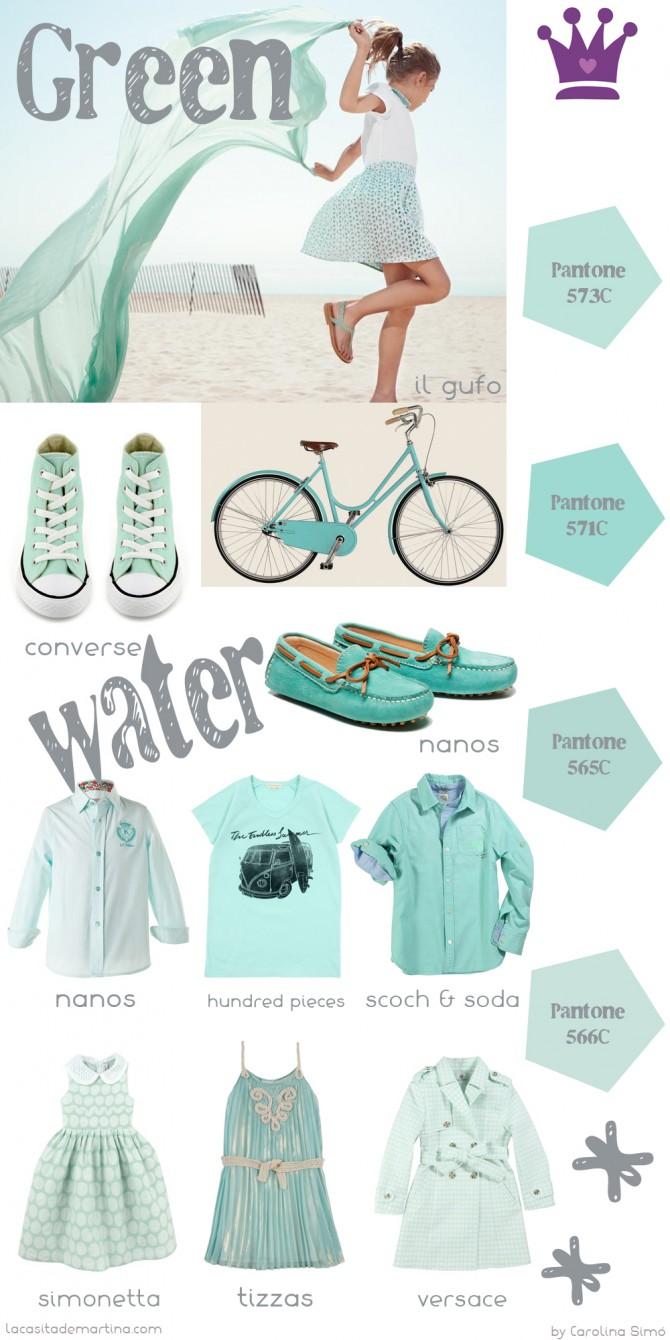 Verde agua color Tendencia Moda Infantil, Blog de Moda Infantil, La casita de Martina, Carolina Simó, Nanos, Simonetta, Hundred pieces