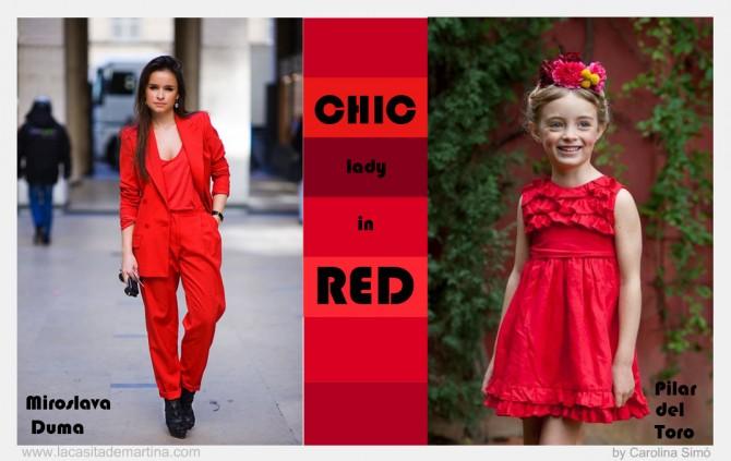 La casita de Martina, Blog de Moda Infantil, Blog de Moda, Look red, Carolina Simó, Street Style