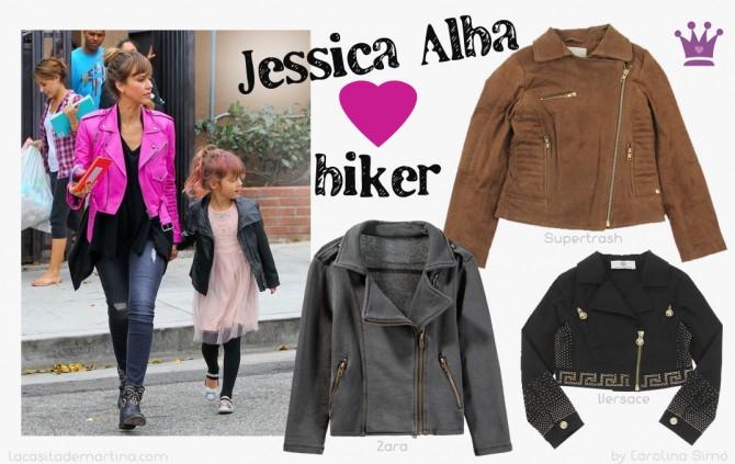 Jessica Alba, Jacket Biker, Blog de Moda Infantil, La casita de Martina, Carolina Simó