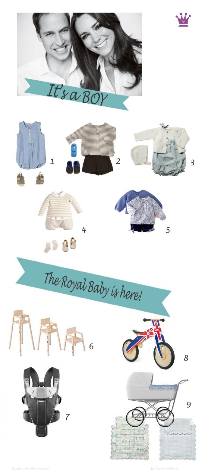 The royal baby, Duques de Cambridge, Guillermo y Kate, Blog de Moda Infantil, La casita de Martina