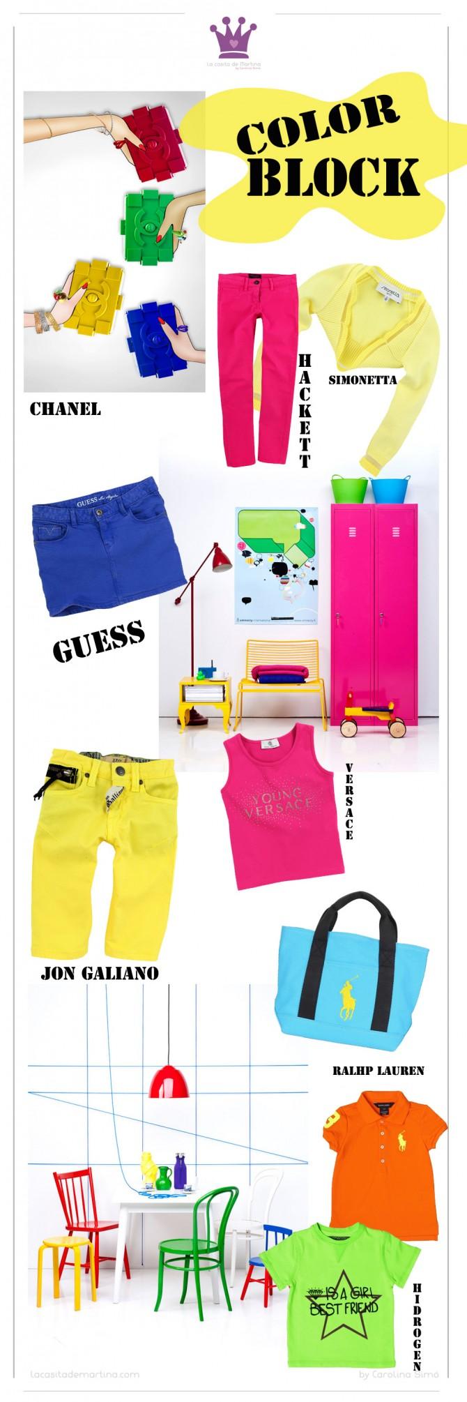 Color Block, Tendencias Moda Infantil, Blog de moda infantil, La casita de Martina, Chanel