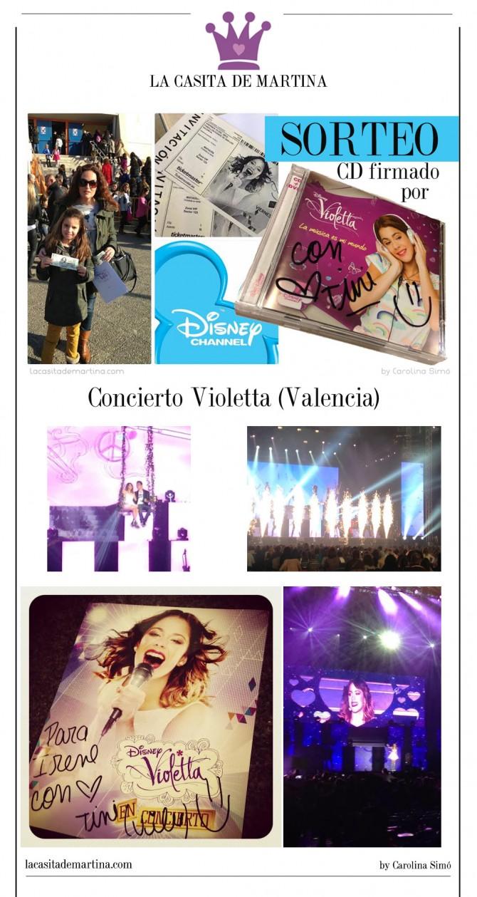 Concierto Violetta, CD firmado Violetta, Concierto España Violetta,  Blog Moda Infantil, La casita de Martina