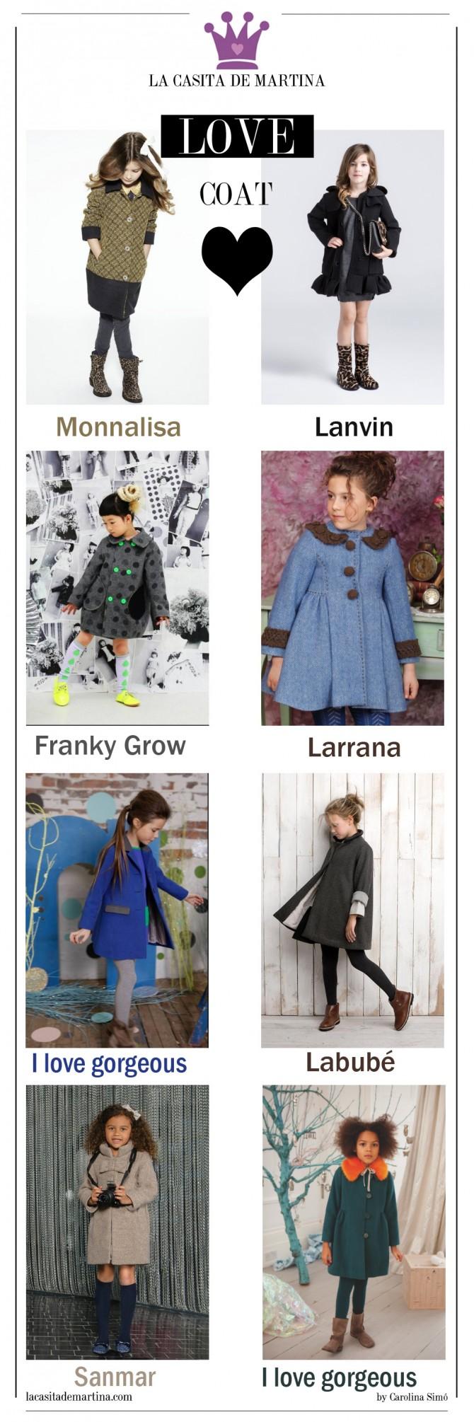 Abrigos niñas, rebajas moda infantil, Blog Moda Infantil,  La casita de Martina