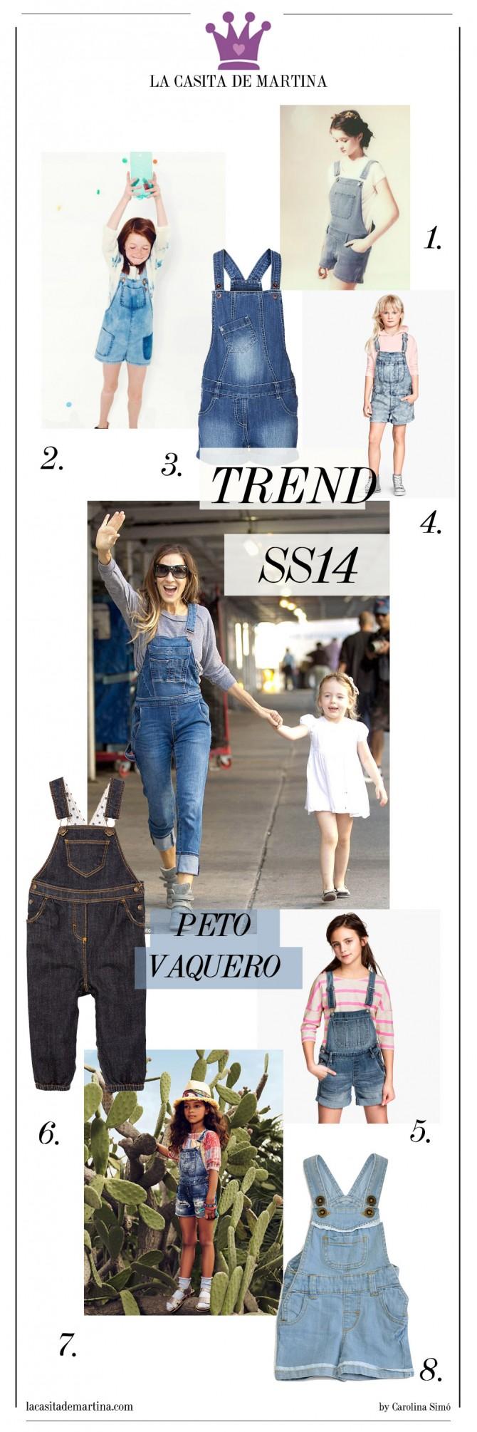 Tendencias moda infantil, Peto vaquero, Mango kids, Zara Kids, Blog de Moda Infantil, La casita de Martina, El Corte Inglés moda infantil