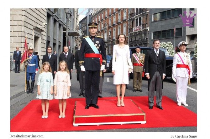 Vestidos Leonor y Sofía, Blog de Moda Infantil, Rey Felipe VI, Proclamación rey, Nanos