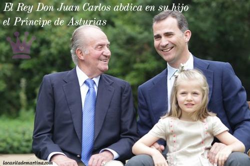 El Rey Don Juan Carlos abdica, Príncipe de Asturias Don Felipe, Infanta Leonor, Blog Moda Infantil