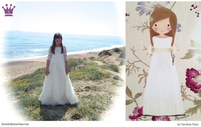 Vestidos Comunión, Blog de Moda Infantil, La casita de Martina, Trajes Comunión, Candy bar, Pompone de papel
