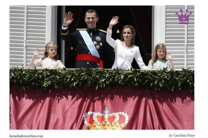 Vestidos Infantas Leonor y Sofía, Rey Felipe VI, Blog Moda Infantil, Proclamación Rey