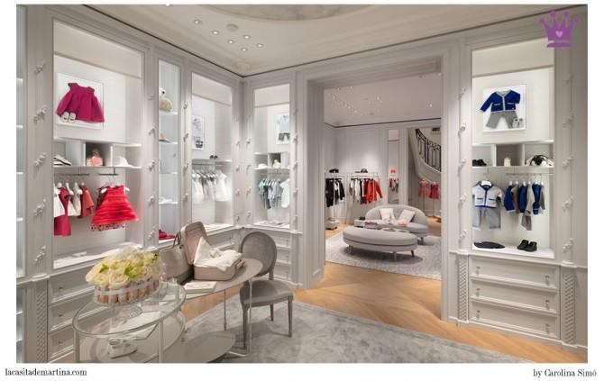 Baby dior colecci n oto o invierno 14 15 y nueva boutique for Muebles para boutique infantil