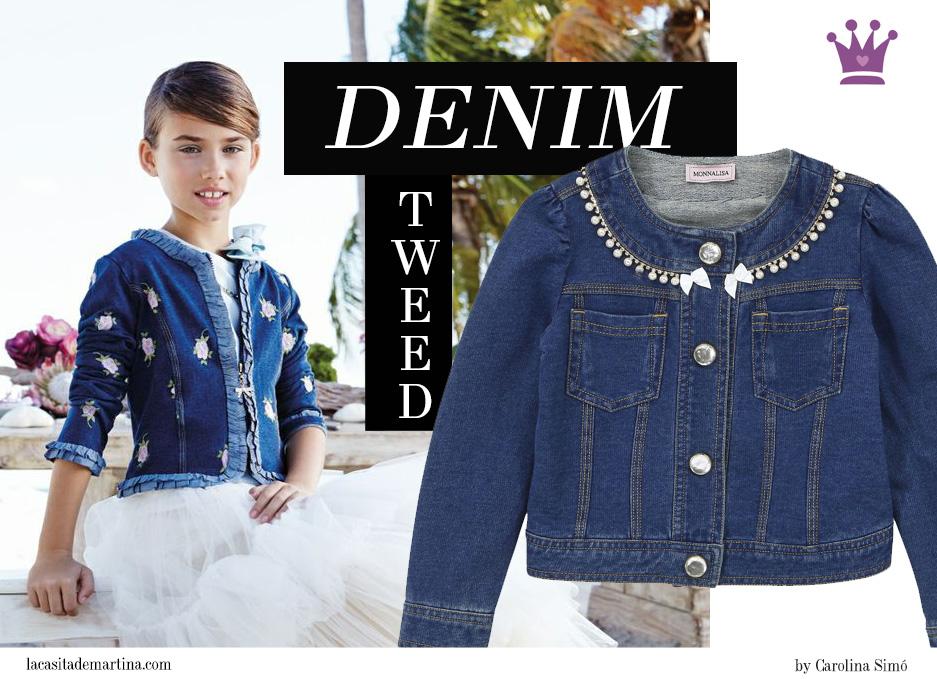 El arte de reinventar de la chaqueta vaquera al tweed m s chic moda infantil la casita de - Monalisa moda infantil ...