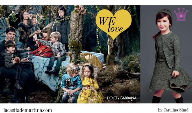 Dolce & Gabbana, moda infantil, Blog de Moda Infantil, La casita de Martina, Blog Moda Bebé, Carolina Simó
