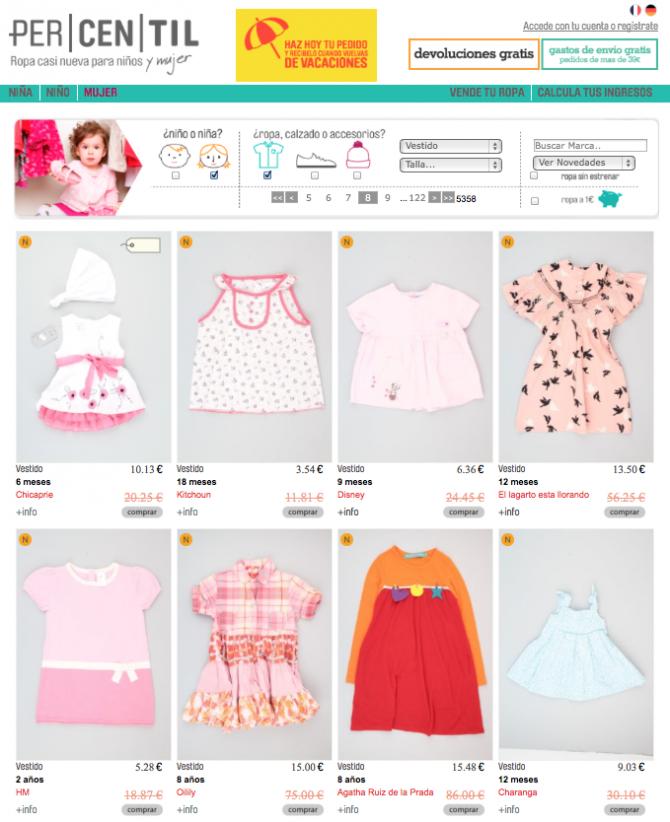 moda infantil segunda mano
