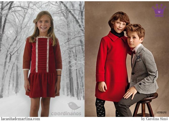 Blog Moda Infantil, La casita de Martina, Moda Niños Navidad, Carolina Simó, Armani Junior, Coordinanos, Children´s Fashion