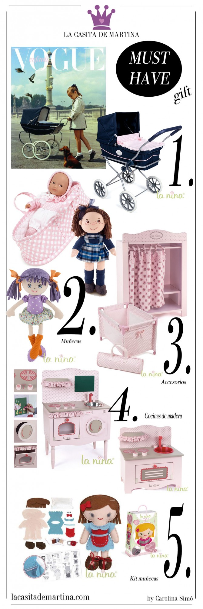 La NINA, cocinas de juguete, muñecas de trapo, La casita de Martina, Blog Moda Infantil