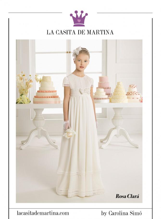 Trajes de comuni n 2015 de rosa clar first blog moda for La casita de martina