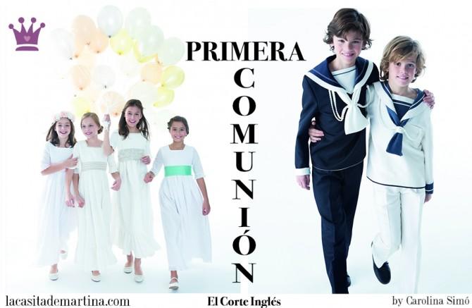 Trajes Comunión El Corte Inglés, Vestidos Comunión El Corte Inglés, Blog de Moda Infantil, La casita de Martina