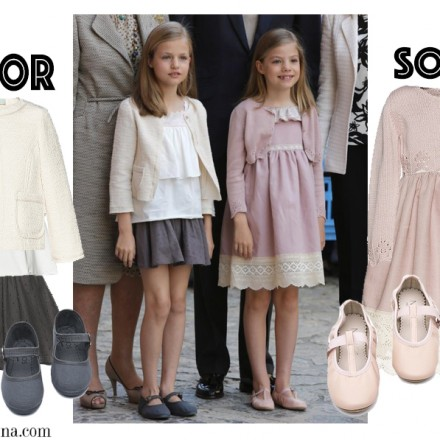 Leonor y Sofía, Vestidos Leonor, Vestido Sofía, Misa de Pascua, Marca ropa Princesa Leonor, Blog Moda Infantil