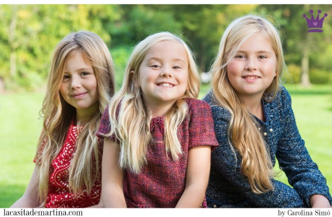 2 Pili Carrera, Marca vestidos Princesas, Catharina-Amalia, Alexia and Ariane, Princesses of Denmark