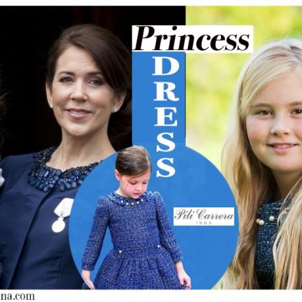 Pili Carrera, Marca vestidos Princesas, Catharina-Amalia, Alexia and Ariane, Princesses of Denmark