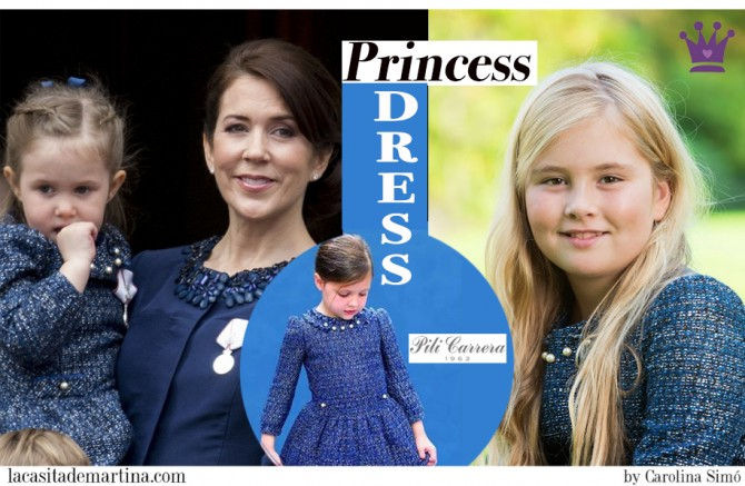 Pili Carrera, Marca vestidos Princesas, Catharina-Amalia, Alexia and Ariane, Princesses of Denmark