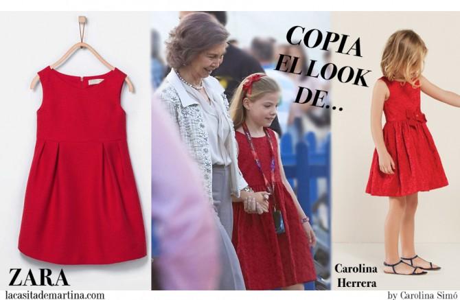 Vestido Infanta Sofia, Blog de Moda Infantil, Zara Kids, Carolina Herrera Children, Princesa Leonor, Infanta Sofía de Borbón