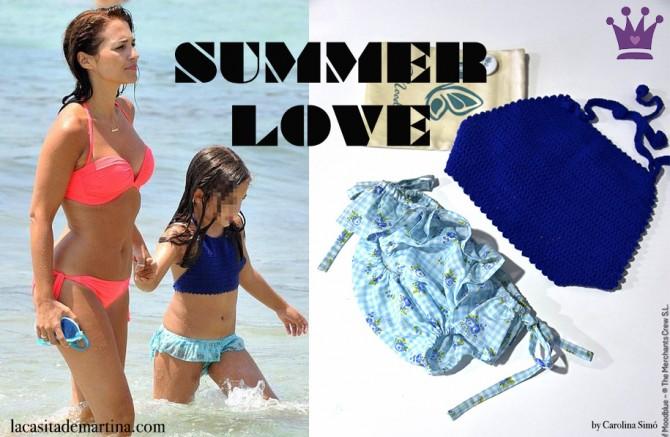 Paula Echevarría en Ibiza, Marca bikini Daniella Bustamante, Blog de Moda Infantil, La casita de Martina, Carolina Simó
