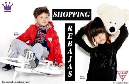 Blog Moda Infantil, Guess Kids, Rebajas ropa niños, Tendencias moda infantil, La casita de Martina