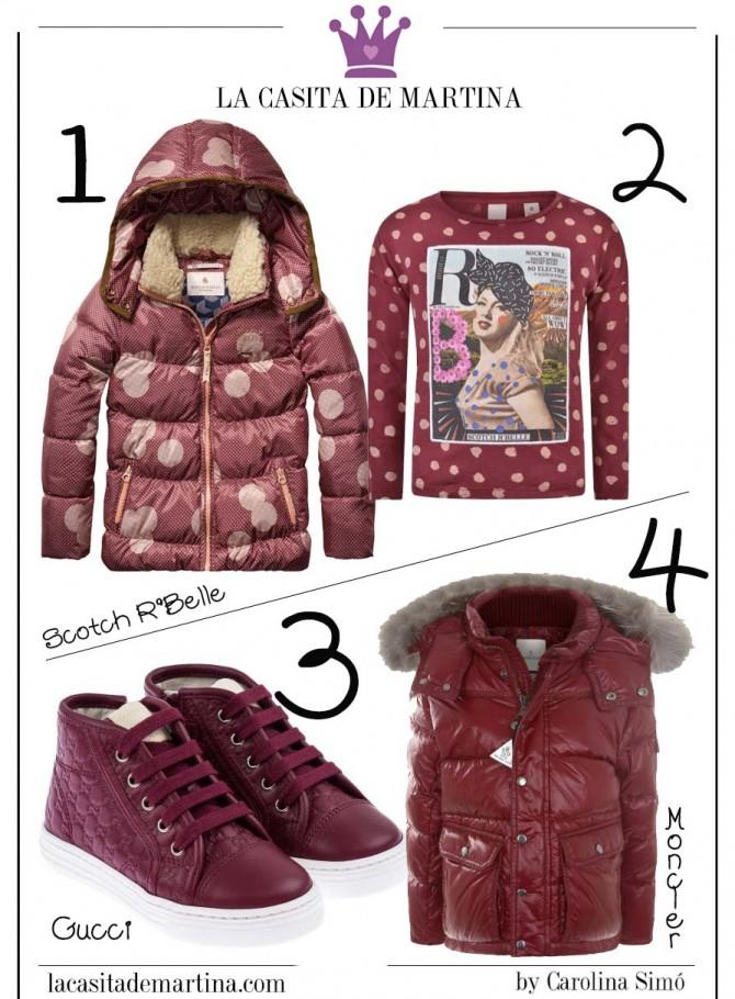 Marsala color del año, Blog de Moda Infantil, La casita de Martina, Gucci, Moncler