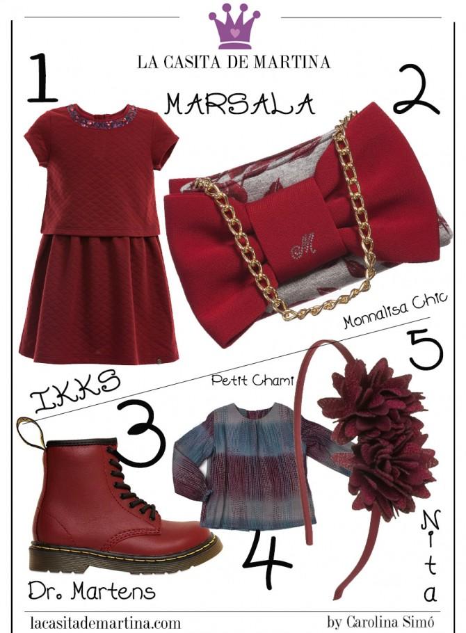 Marsala color del año, Blog de Moda Infantil, La casita de Martina, Pitti Bimbo, IKKS kids,