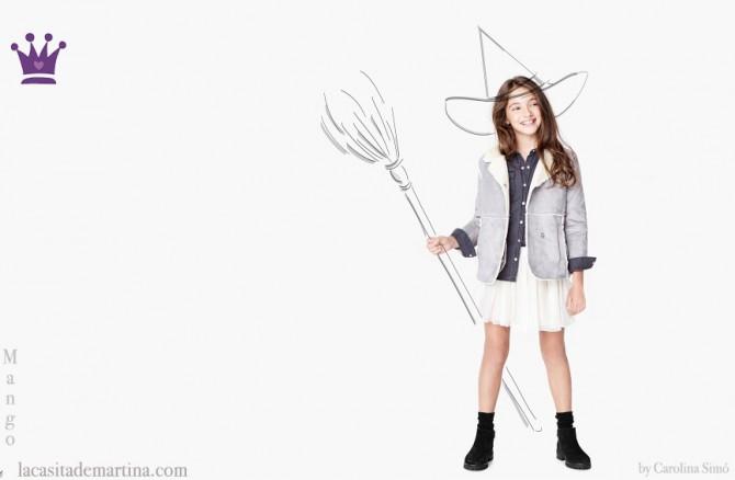 Disfraces Hallowen,  Blog de Moda Infantil, La casita de Martina, Mango Kids
