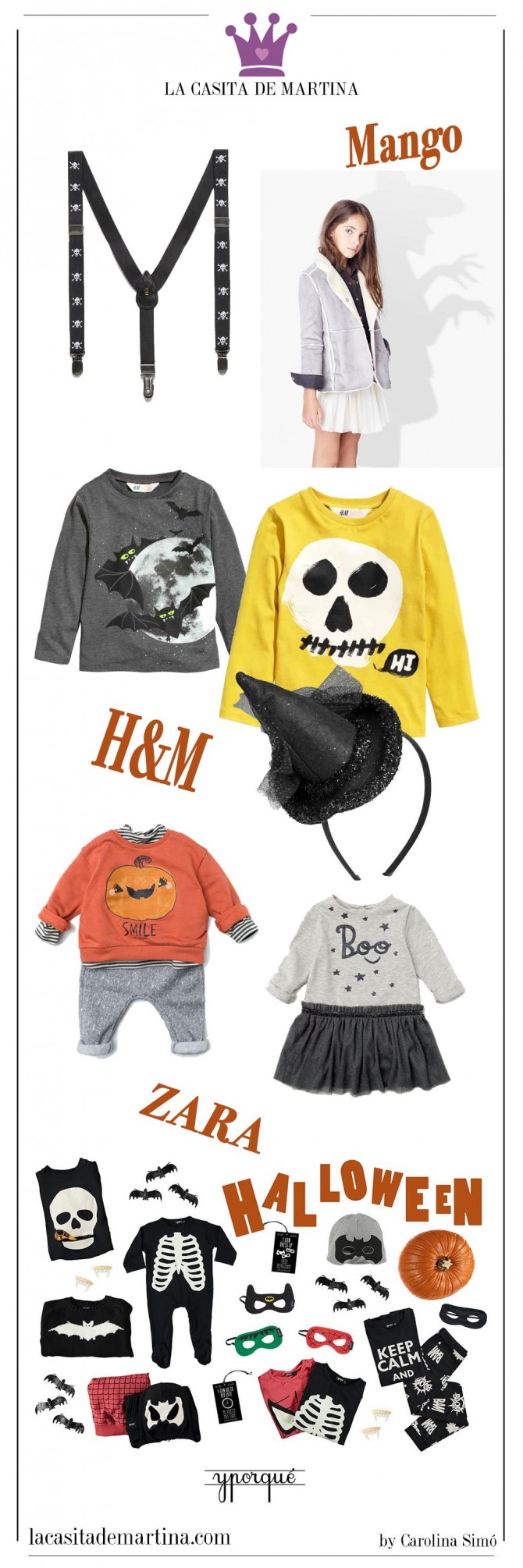 Disfraces Hallowen,   Blog de Moda Infantil, La casita de Martina, Mango Kids