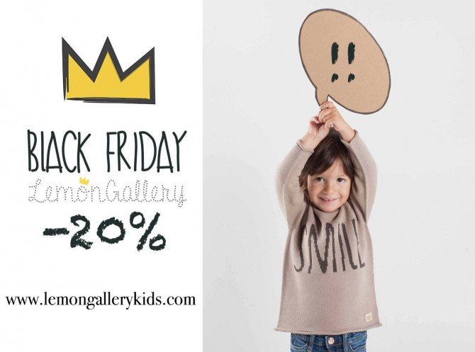 Blog de Moda Infantil, Lemon Gallery, Black Friday, Moda Niños, La casita de Martina