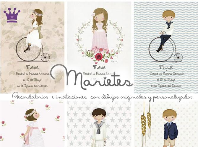 Regalos para invitados, Recordatorios Comunión, Invitaciones Primera Comunión, La casita de Martina, Marietes Ilustraciones, 8