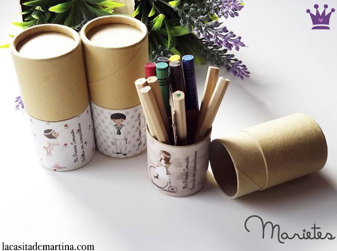 Regalos para invitados, Recordatorios Comunión, Invitaciones Primera Comunión, La casita de Martina, Marietes Ilustraciones