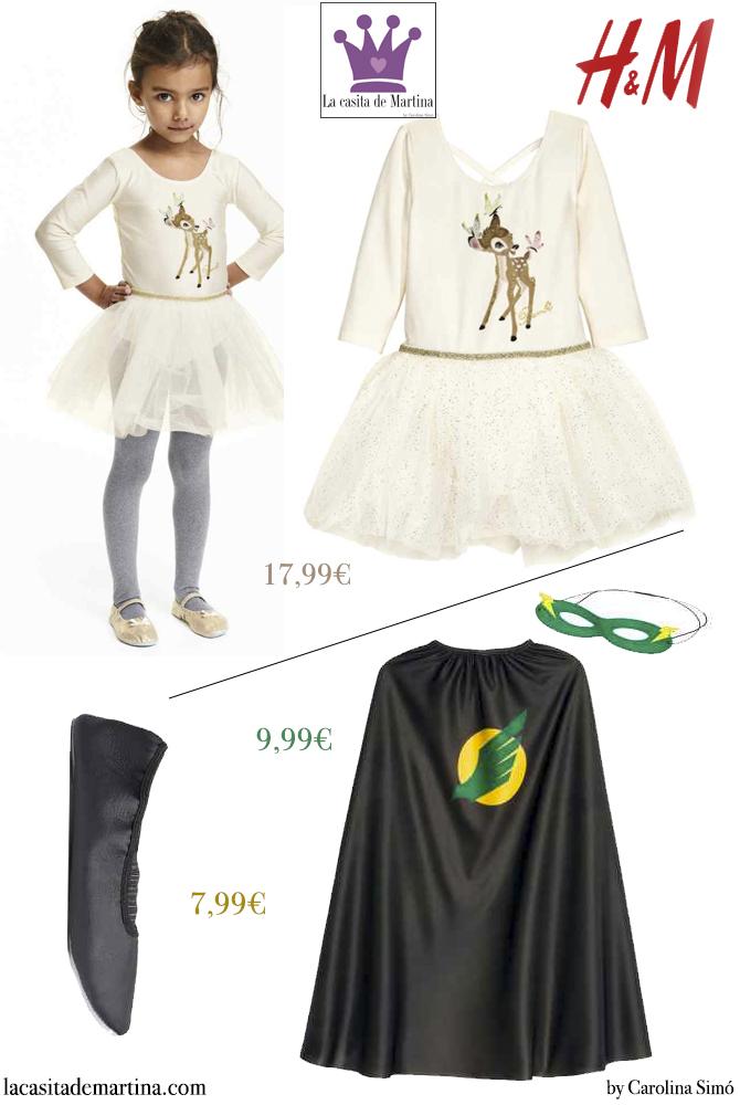 2 Disfrazes carnaval para ninos, Blog Moda Infantil, La casita de Martina, Carolina Simo, HyM
